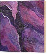 Shades Of Amethyst Wood Print