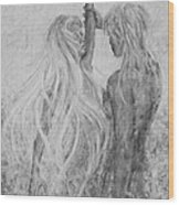 Shades Of Gray - Adam And Eve Wood Print