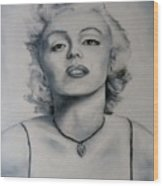 Shades Of Gray Marilyn Monroe Wood Print