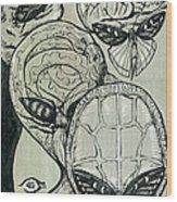 Shades Of Grays Three Wood Print
