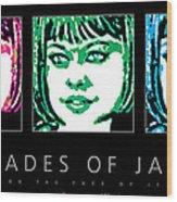 Shades Of Jade Poster Wood Print