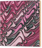Shades Of Pink And Red Decorative Design Wood Print by Matthias Hauser