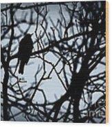 Shadow Among The Shadows Wood Print