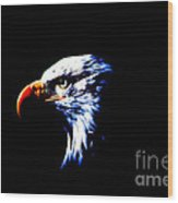 Shadow Eagle Wood Print