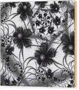 Shadow Flowers Wood Print