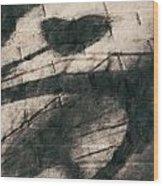 Shadow Heart Chalk 1 Hp Wood Print