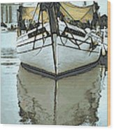 Shadow Of Boat Wood Print