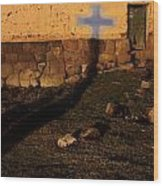 Shadow Of Cross Peru Wood Print
