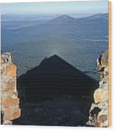 M-05715-shadow Of Mt. Mcloughlin Wood Print