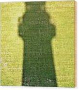 Shadow Of Tybee Lighthouse Wood Print