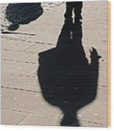 Shadow People In London # 2 Wood Print