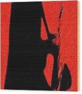 Shadow Sax Wood Print