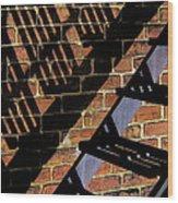 Shadow Walker Wood Print