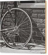 Shadow Wheel Wood Print
