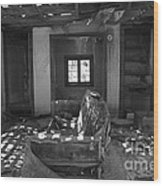 Shadowed Rooms Wood Print