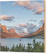 Shadowing Goose Island Wood Print by Jon Glaser