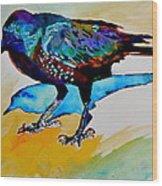 Shadowland Visitor Wood Print
