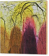 Shadows In The Grove Wood Print