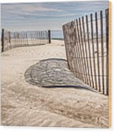 Shadows In The Sand II Wood Print
