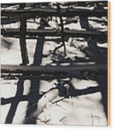 Shadows On Table Mountain Wood Print