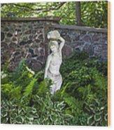 Shady Perennial Garden Wood Print