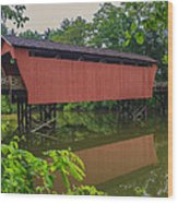 Shaeffer Or Campbell Covered Bridge Wood Print