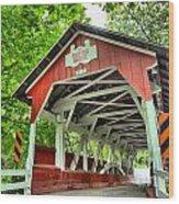 Shafer Covered Bridge Wood Print