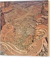 Shafer Trail Wood Print