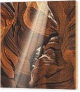 Shaft Of Light Wood Print