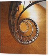 Shaft Staircase Wood Print