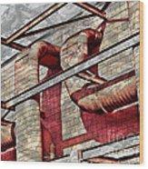 Shai-hulud Caged Wood Print by MJ Olsen