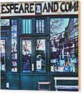 Shakespeare And Company Paris France Wood Print