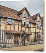 Shakespeare's Birthplace Wood Print
