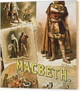 Shakespeare's Macbeth 1884 Wood Print