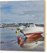 Shaldon-teignmouth Harbour 3 Wood Print