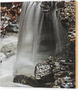 Shale Creek Waterfall Wood Print