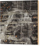 Shale Waterfalls Cascade Wood Print