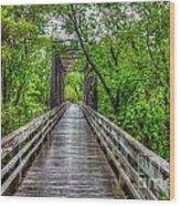Shall We Walk In The Rain Wood Print