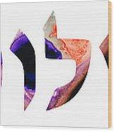 Shalom 7 - Jewish Hebrew Peace Letters Wood Print