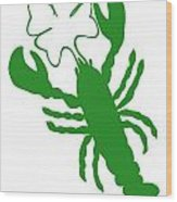 Shamrock Lobster With Feelers 458 20120114 Wood Print