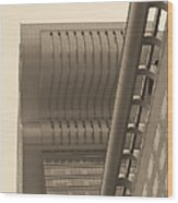 Shanghai Building In Abstract Wood Print