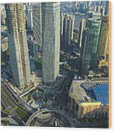 Shanghai From Above Wood Print