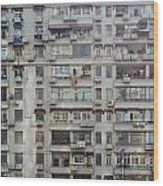 Shanghai Homes Wood Print