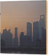 Shanghai In Early Morning Wood Print