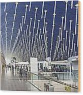 Shanghai Pudong Airport In China Wood Print
