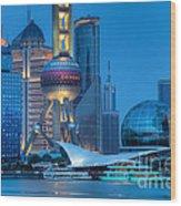 Shanghai Pudong Wood Print by Fototrav Print