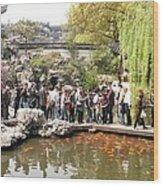 Shanghai Yuyuan Garden Wood Print