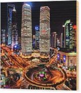 Shanghais Financial City Center Wood Print