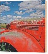 Shaniko Fire Truck Wood Print