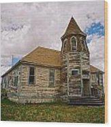 Shaniko Old Scool House Wood Print
